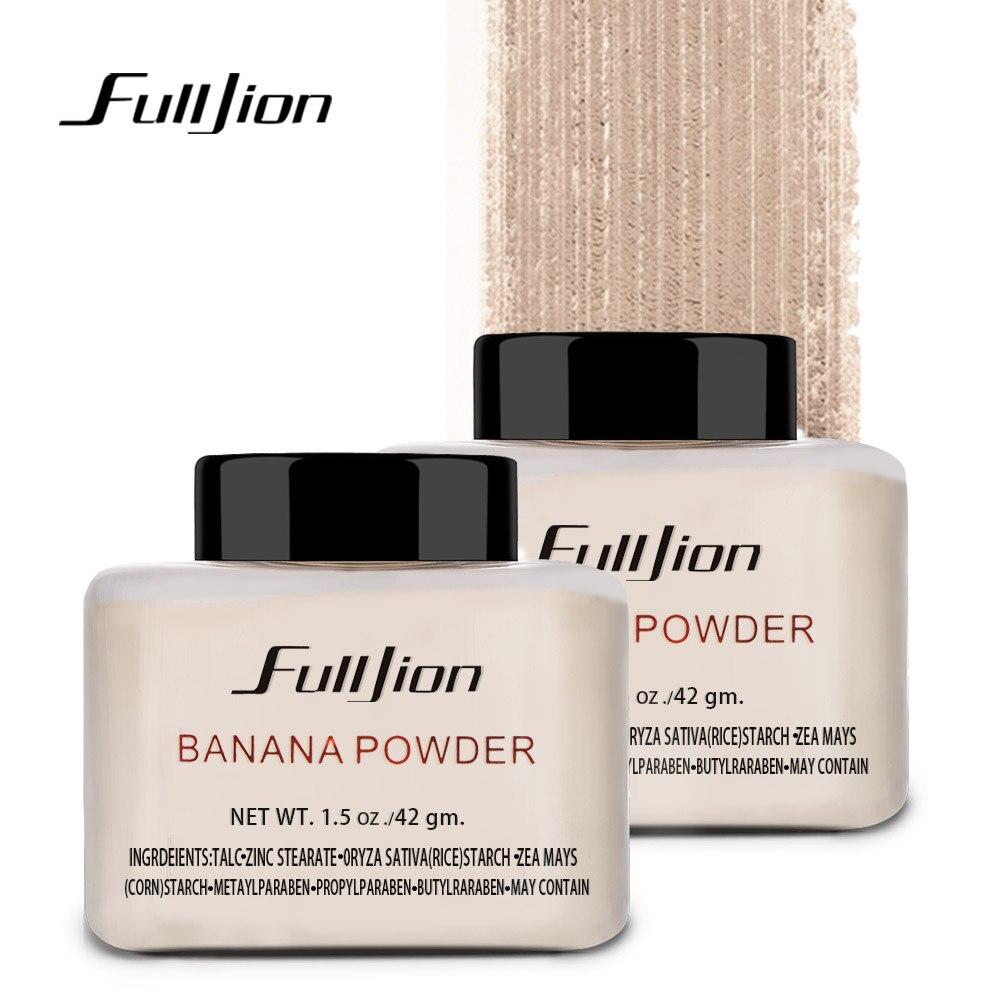 Fulljion Banana Clareamento Da Pele Controle de Óleo-Base de Maquiagem Em Pó Solto Pó Facial Fundação de Cosméticos Para O Rosto Beleza