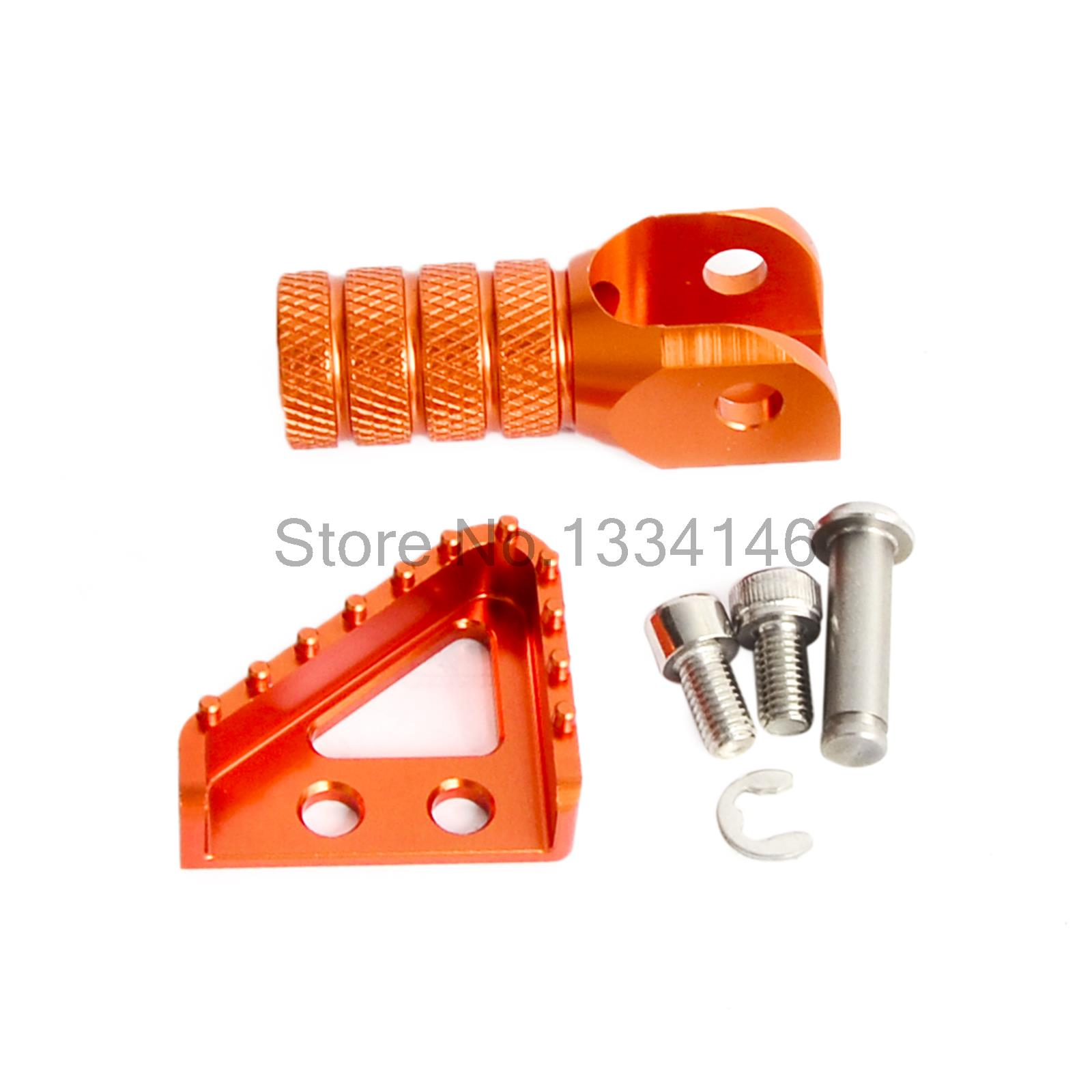 Billet Rear Brake Pedal Step Tips And Gear Shifter Lever Tip Replacement For KTM SX SX-F EXC EXC-F XCW XCF SMR SMC billet rear hub carriers for losi 5ive t