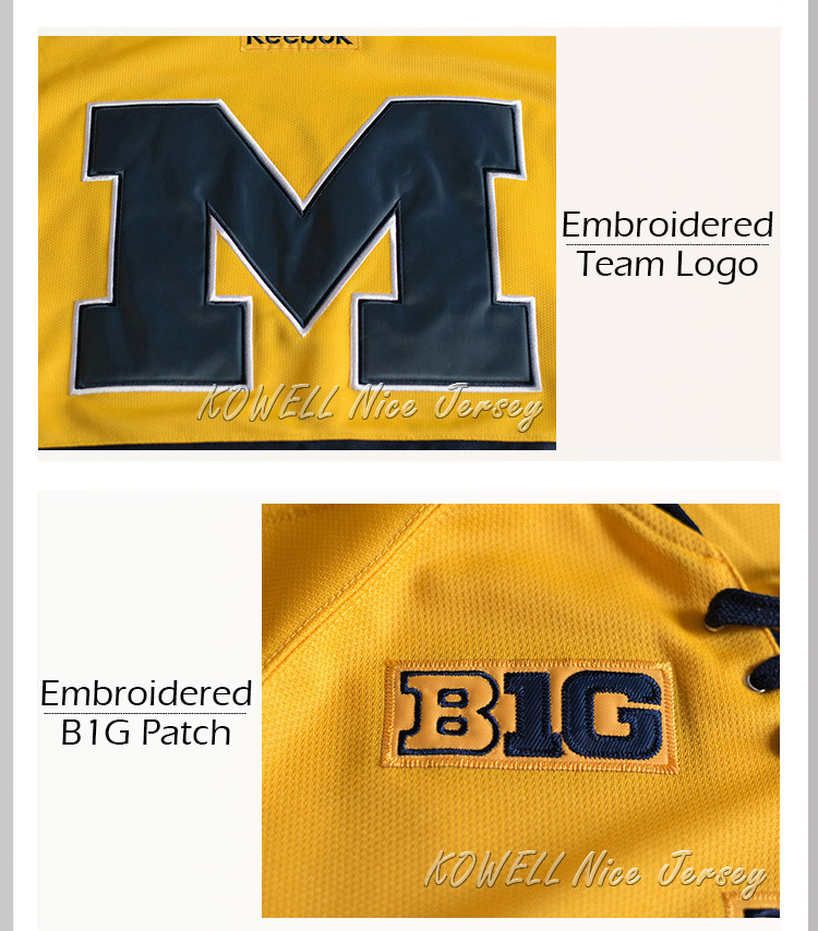 more photos d72fa 94196 Carl Hagelin #12 University of Michigan Wolverines Stitched Hockey Jersey -