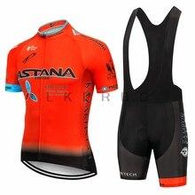 2019 team astana cycling bike jersey white clothes with gentlemen summer jerseys gel pad shorts  9D bib
