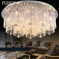 new design RGB LED crystal chandelier light dinning room crystal chandelier lamp lighting with remote control Flush Mounted