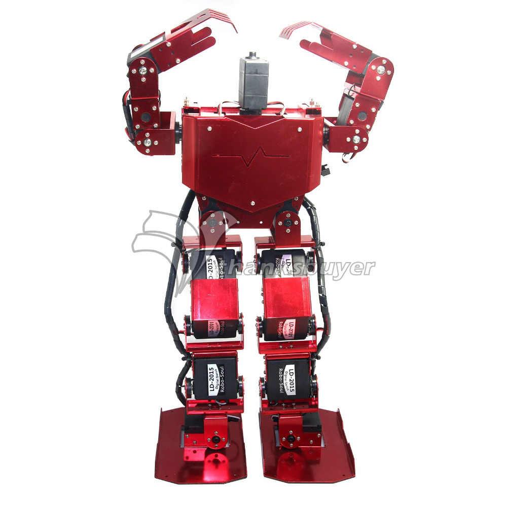 17DOF robo-душа H3.0 двуногая Робототехника робота-гуманоида Алюминий Frame полный комплект w/17 шт. Servo + контроллер
