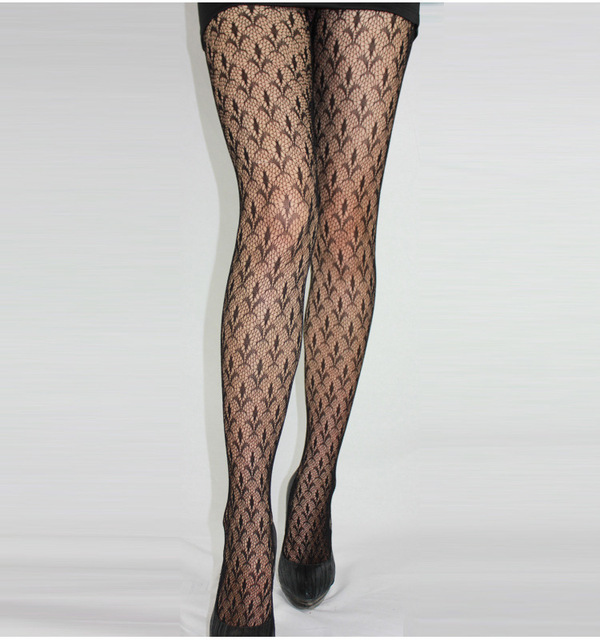 Fashion Womens Lady Girls Black Sexy Fishnet Pattern Jacquard Stockings Pantyhose Tights  skull Woman 1pcs dww43 2