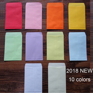 Image 2 - 20 Uds. De minisobres de papel en blanco de colores, 10 colores de caramelo, sobres, invitación de fiesta de boda, tarjetas de felicitación, bolsa de papel de regalo