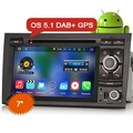 "Ctj ES4028A 7 ""Android 5.1 Bluetooth DAB + Радио Автомобиль DVD GPS"