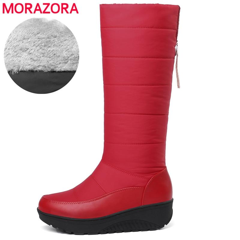 85a0289465 MORAZORA Plus size 35-44 winter boots women tassel warm snow boots women  waterproof thick fur platform boots ladies booties