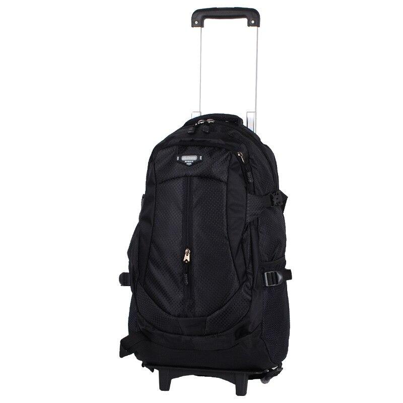 School Travel Bag Men Rolling Luggage Trolley Women Boarding Box Students Multi function Trunk Backpack