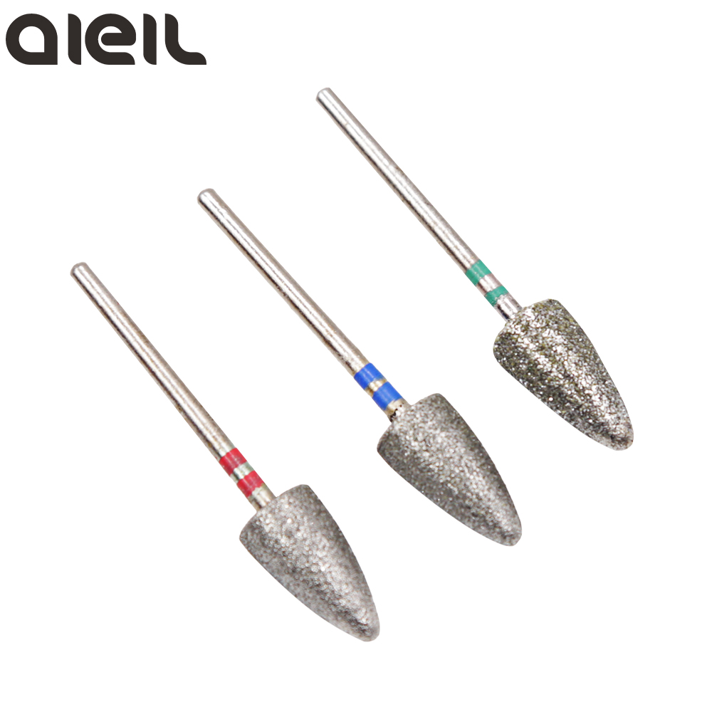 Diamond Nail Drill Bits Foot Callus Cuticle Clean Cutter For Pedicure Diamond Rotary Burr Bits For Pedicure Tools Accessories
