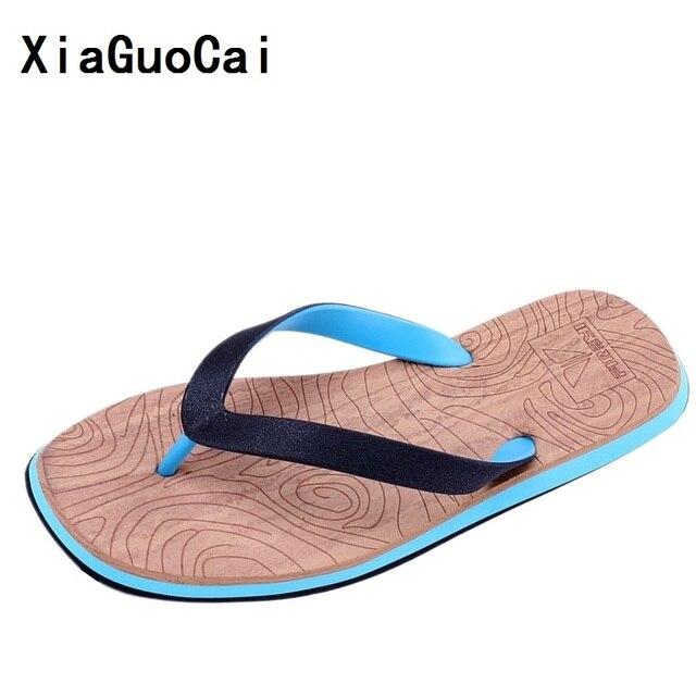 b665e004c4e9 XiaGuoCai Summer Rubber Sole Beach slide sandals Mens Casual flip-flops  beach Sandals Summer Fashion