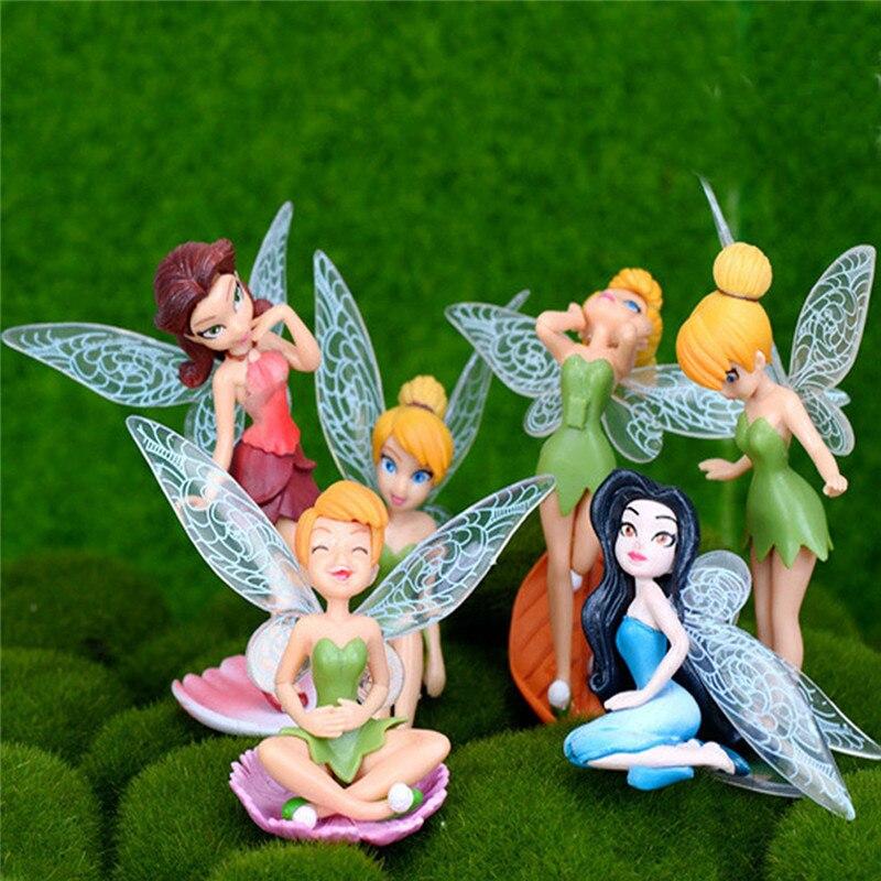 6 pçs/set Fada Da Flor Da Paisagem Em Miniatura Carne Jardinagem Elf Jardim Decoração Da Casa DIY Decoração Paisagem Em Miniatura Mini Cr