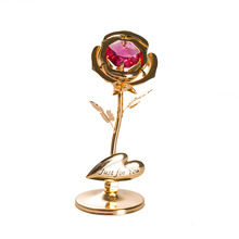 Fashion Gold Red Crystal Rose Romantic Home Decoration Accessories Modern Ornaments Birthday Party Decorations Adult