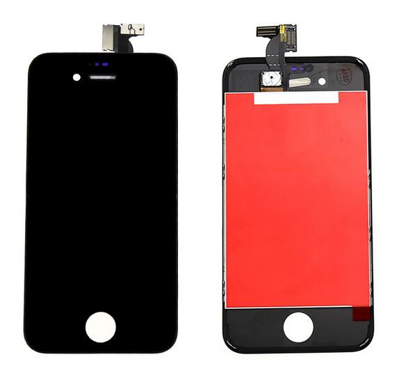 GSM Lcd display+Touch Glass Screen Digitizer +Frame Assembly For Iphone 4 4s Pantalla white/black color free shipping