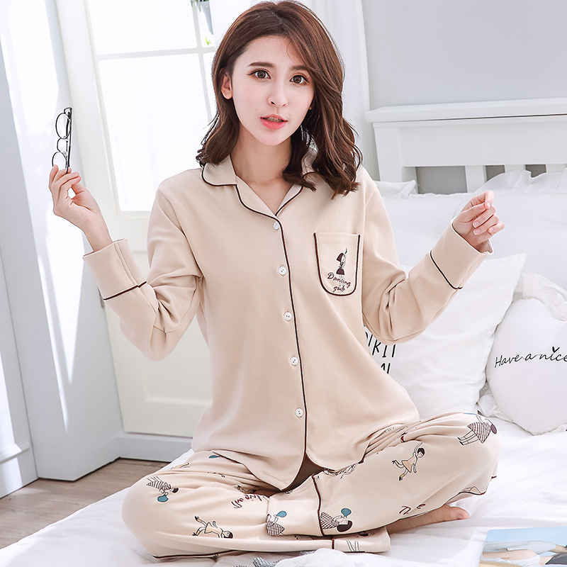 ... Female Suit Cute Cartoon Home Wear Long Sleeve Pajamas for Women. Sold  Out. Previous e45406910