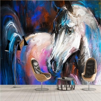 Custom Wallpaper Large Wall Decor Horse Wall Murals Paintings for Living Room Modern Home Decor Ideas TV Room Furniture Study
