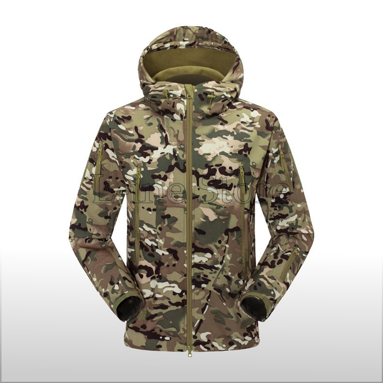 Mens TAD Gear Soft Shell Outdoor Fleece Waterproof Jackets Tactical Camouflage Army Military Hunting Clothes