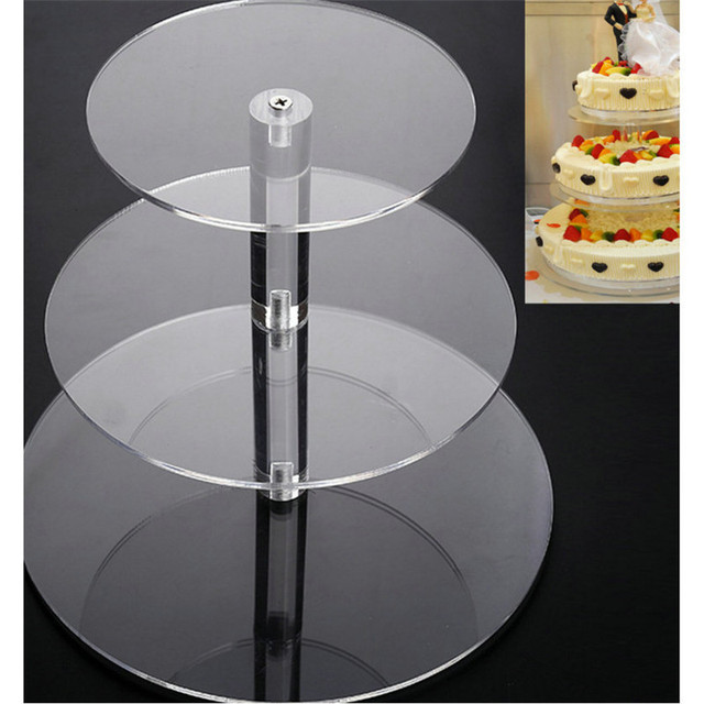 3/4/5 Tier Crystal Acrylic Cake Stand Round Cupcake Holder Shelf Wedding Birthday Party Cup Cake Display Stands Decorating Tools