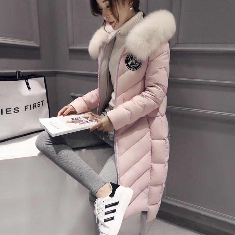 ФОТО Best Winter Lady Natural fox fur collar Women's Genuine Fur Overcoat Girl real fox fur collar Fur Hooded Jacket Limited edition