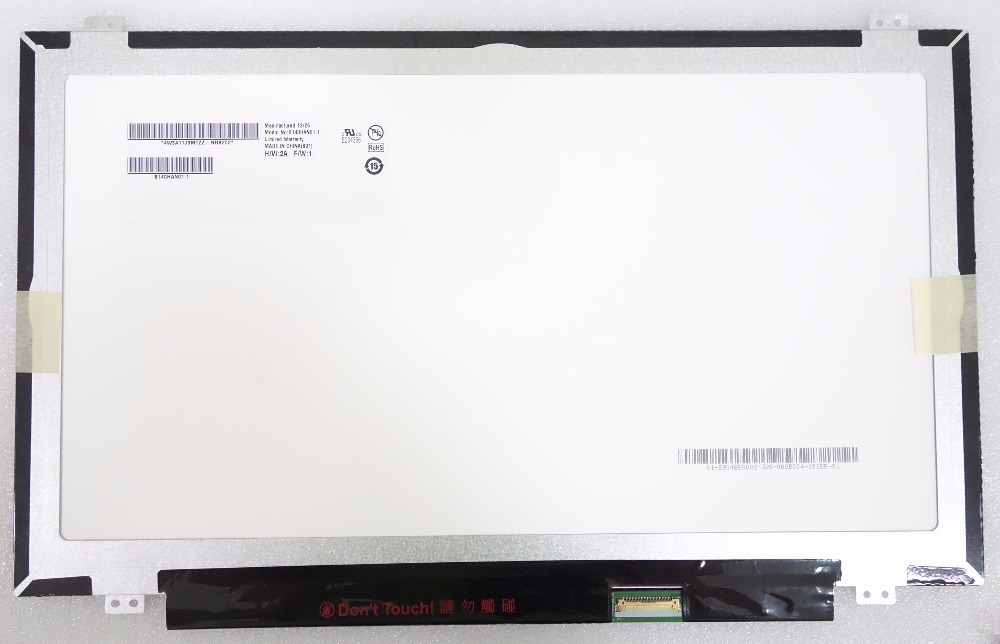 New Laptop LCD Screen AU Optronics B140HAN01.1  B140HAN01.2 B140HAN01.3 lp140wf1 Full-HD LCD Screen IPS FHD 1920*1080 eDP 30pin han au lac 600g