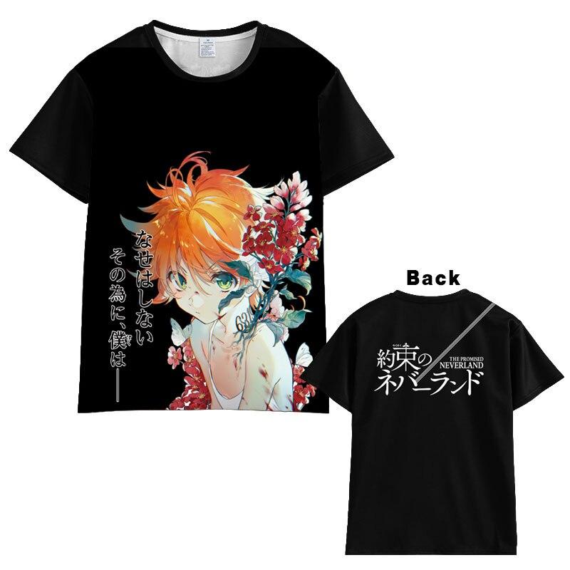 New Anime The Promised Neverland T-shirt Men Women Short Sleeve Summer Costumes Tops Unisex   Harajuku T Shirt