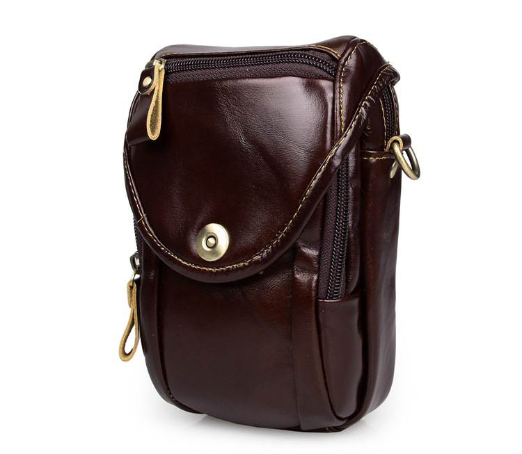 Fashion First layer Geunine Leather Men Waist Bag Fanny Pack For Mobile Phone Coin Purse Cowhide