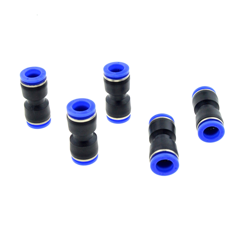 5pcs 12mm Pipe to 12mm OD Tube Air Coupler Fittings Straight Pneumatic Fitting Push In Quick Connectors 8mm tube to 8mm tube plastic pipe coupler straight push in connector fittings quick fitting page 3