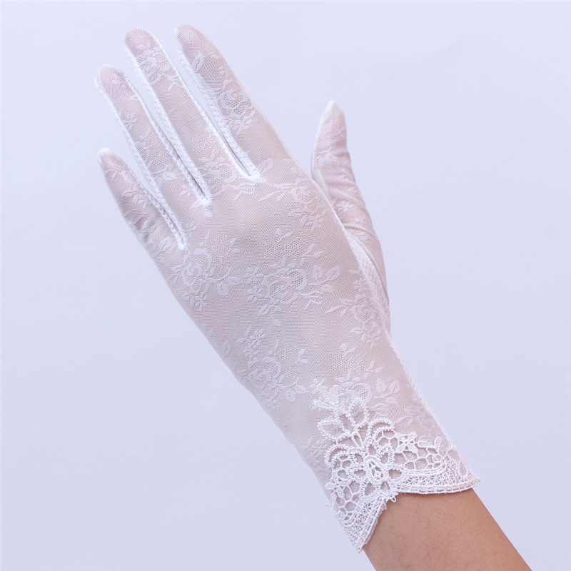 Women's Summer UV-Proof Driving Gloves Gloves Lace Gloves luvas hand gloves guantes eldiven handschoenen 40FE1909