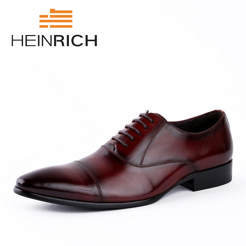 HEINRICH Top Quality Design Oxfords Shoes Men Genuine Leather Shoes New Arrival Pointed Toe Men Dress Shoes Chaussure HommeHEINRICH Top Quality Design Oxfords Shoes Men Genuine Leather Shoes New Arrival Pointed Toe Men Dress Shoes Chaussure Homme