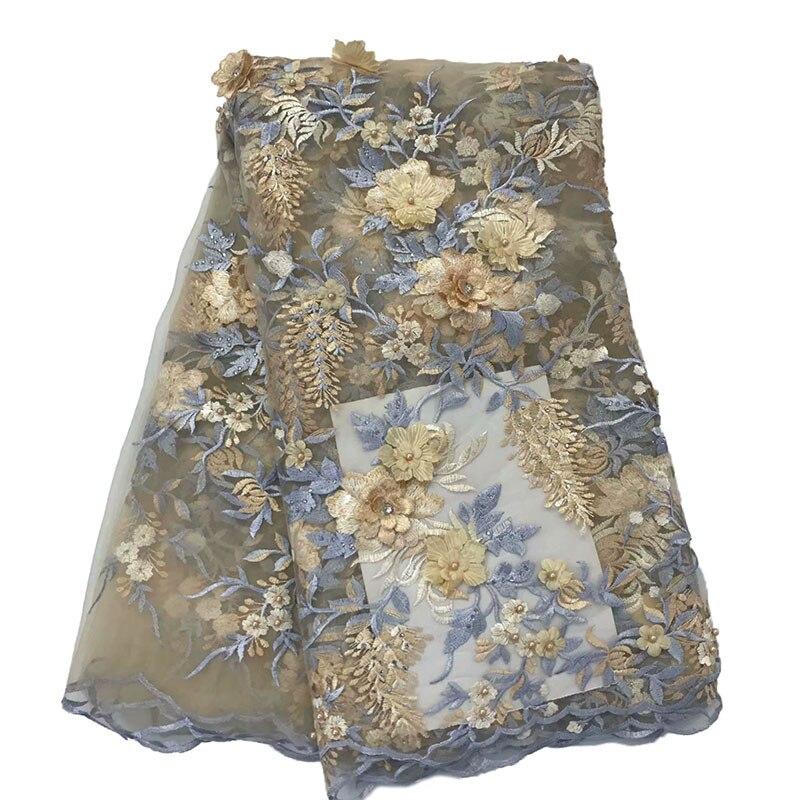 2019 3d broderie africaine dentelle tissus vente chaude nigérian dentelle tissus pour femmes nouveau Style français Tulle dentelle FabricHX1625 2-in Dentelle from Maison & Animalerie    1