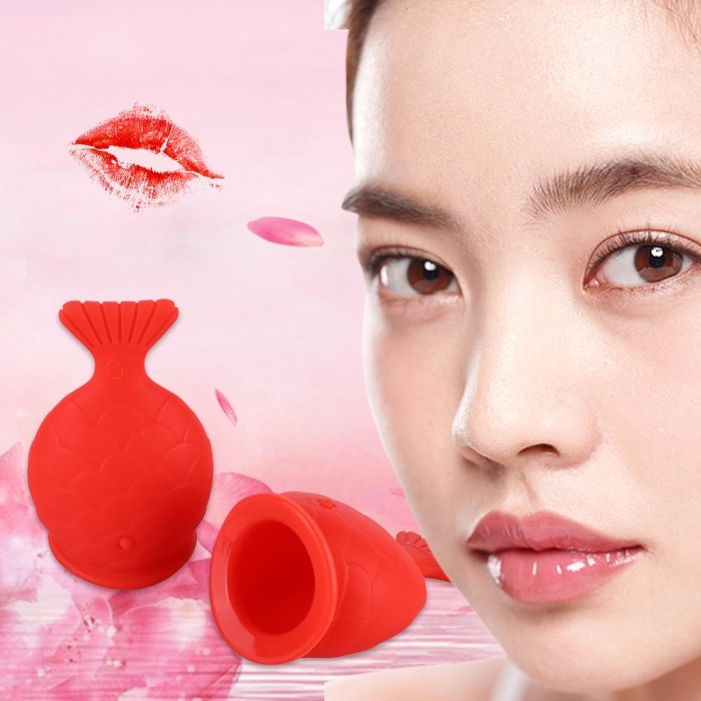 Women Silicone Sexy Full Lip Plumper Fish Shape Lip Enhancer Device Nipple Increase Lips Lip Plump Pro