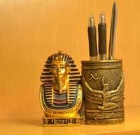 Ancient Egypt pen insert home study desktop decoration ornament gift Pharaoh pen holder office