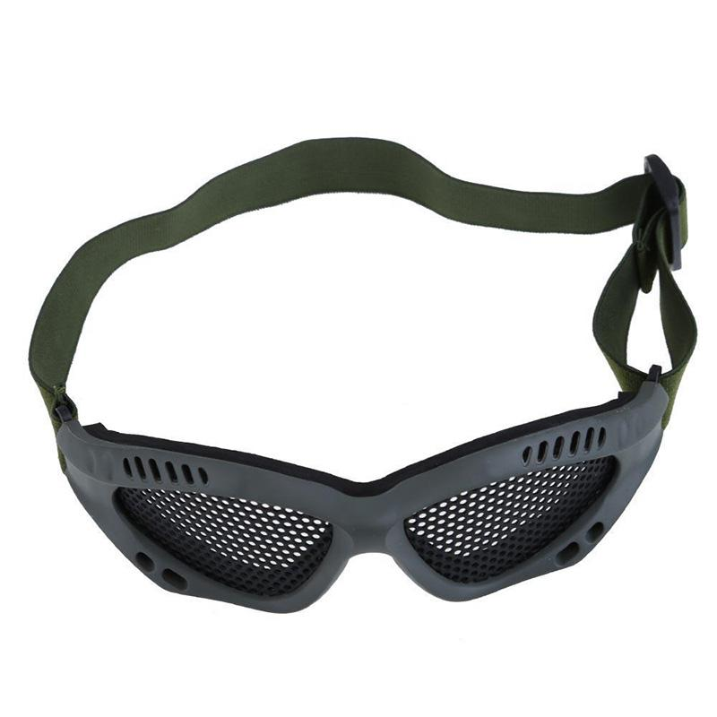 217c87651df Drop shopping Tactical Airsoft Wargame Paintball Mesh Goggles Anti Fog  Glasses Mask Outdoor Safety Eye Protect With Metal Mesh-in Safety Goggles  from ...