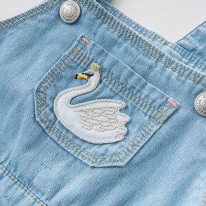 Image 4 - דייב bella אביב תינוקות תינוק ינס השמלה של אופנה רצועת שמלת יום הולדת כתפיות שמלת פעוט ילדי בגדים