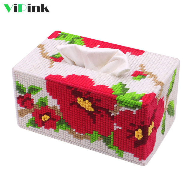 Aliexpresscom Buy Handmade Diy Hibiscus Flower Tissue Box Cover
