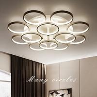 Nordic woonkamer plafondlampen creative nieuwigheid lampen post-moderne eenvoudige LED Armaturen thuis slaapkamer ronde Plafond verlichting