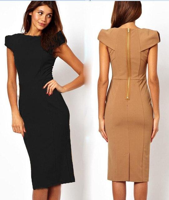Plus Size 2015 New Summer Women Office Work Business Uniform Dress