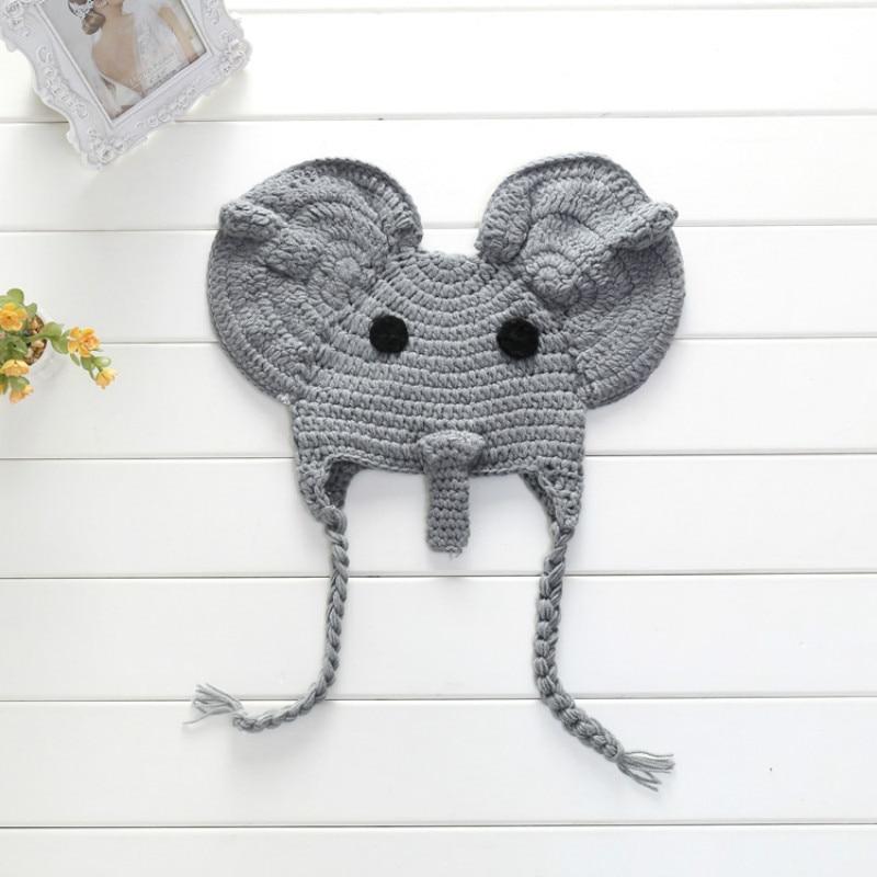 Amazon.com: Crochet Baby Elephant Hat and Diaper Cover Set - Baby ... | 800x800