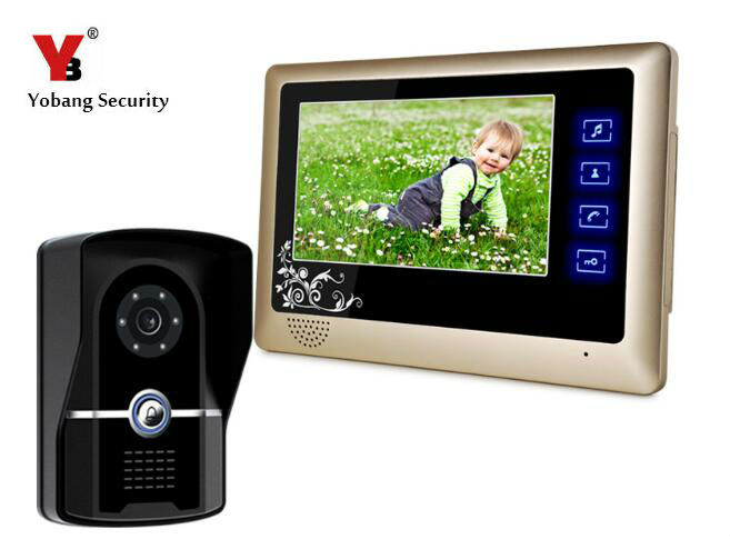 Yobang Security 7 Video Door Phone Intercom System Door Camera+Indoor Monitor IR Night Vision Visual Doorphone Doorbell System 2 7inch indoor monitor wifi wireless video door phone intercom doorbell ip camera pir ir night vision home alarm system remote