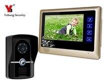 Yobang Security 7″ Video Door Phone Intercom System Door Camera+Indoor Monitor IR Night Vision Visual Doorphone Doorbell System