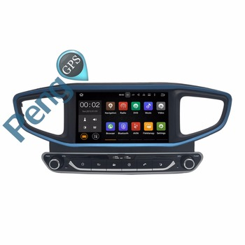 Octa Core 2 Din Stereo DVD Player Android 8.0 Car Radio for HYUNDAI Ioniq for Ioniq Hybrid 2016 2017 GPS Navigation CD Headunit