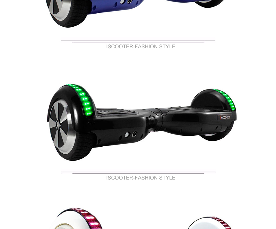 UL2722 6.5 inch Hoverboard or Electric Skateboard with steering-wheel and self Balancing Feature 13