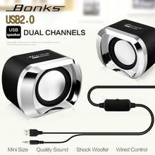 높은 전력 전체 범위 스테레오 서브 우퍼 PC 스피커 휴대용 저음 음악 DJ USB 컴퓨터 스피커 노트북 전화 TV