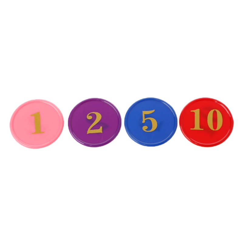 160 Pcs/box Plastic Bingo Chips Number Markers For Bingo Game Counters Games 4 Colors Random delivery