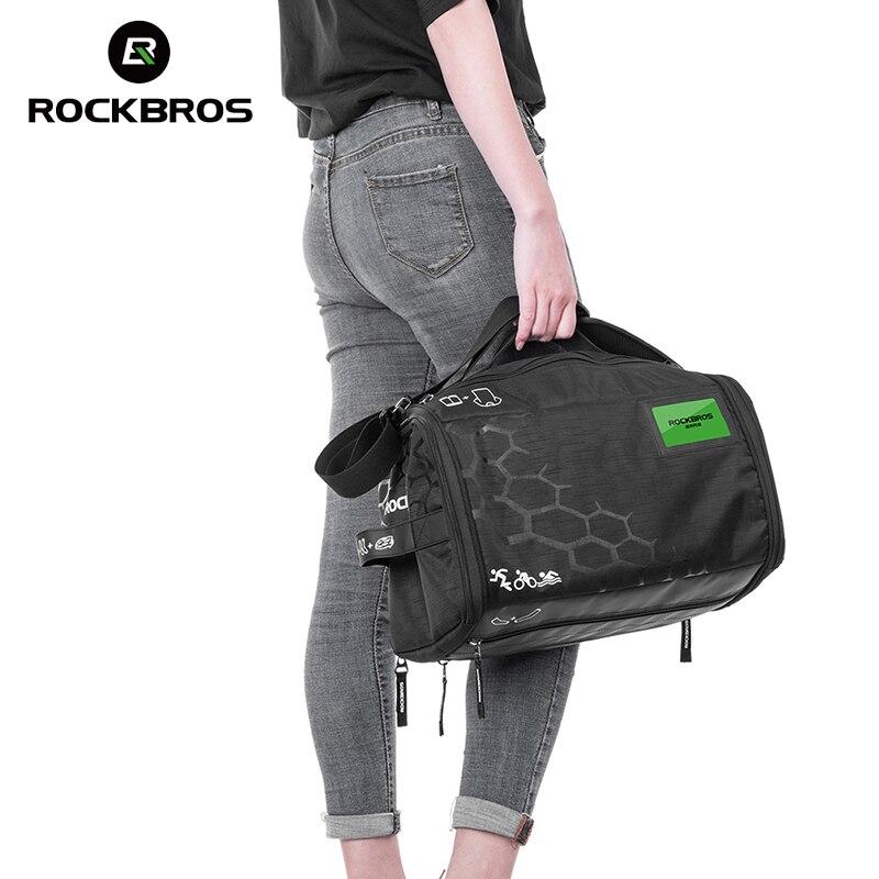 ROCKBROS Outdoor Bag Cycling Equipment Storage Bag With Rain Cover High Capacity Triathlon Handbag Bike Riding