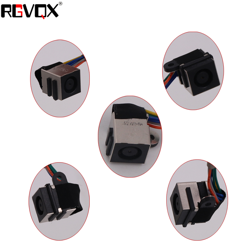 10Pcs New PJ553 DC Jack Cable for DELL XPS 17 L701X(with cable) Laptop Socket Power Replacement