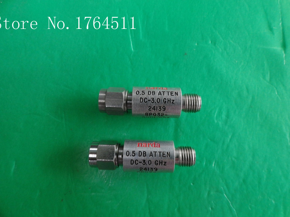 [BELLA] NARDA 24139 8P032-001U-007 3GHz 0.5dB 2W SMA Coaxial Fixed Attenuator  --2PCS/LOT