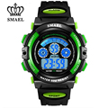 SMAEL Children Sport Digital Watch for Boys Girl Dive Waterproof Wristwatch Rainbow Cartoon Watches Kids Clock Best Gift WS0508B