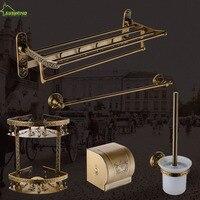 AUSWIND vintage Space aluminum Luxury carving bathroom accessories bronze Classical wall mount bathroom hardware set