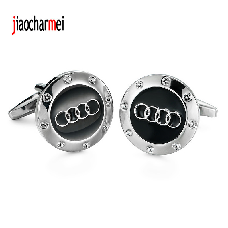 High quality mens shirts Cufflinks new fashion boutique car logo Audi cufflinks, French shirt accessories