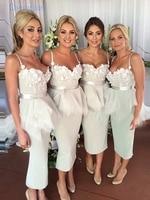 Chengjun индивидуальный заказ Sweetehart шифоновое облегающее платье чай Длина Короткое Платье Для подружки невесты