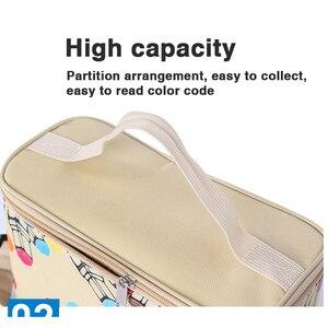 Image 3 - 80 120 Large Capacity Marker Pen Case Folding Canvas Handbag Artist Marker Bag Storage Student Stationery Art Supplies Organizer